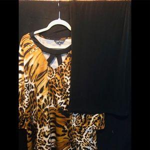 Slinky Brand - (plus size) Two Piece Pants 👖 suit